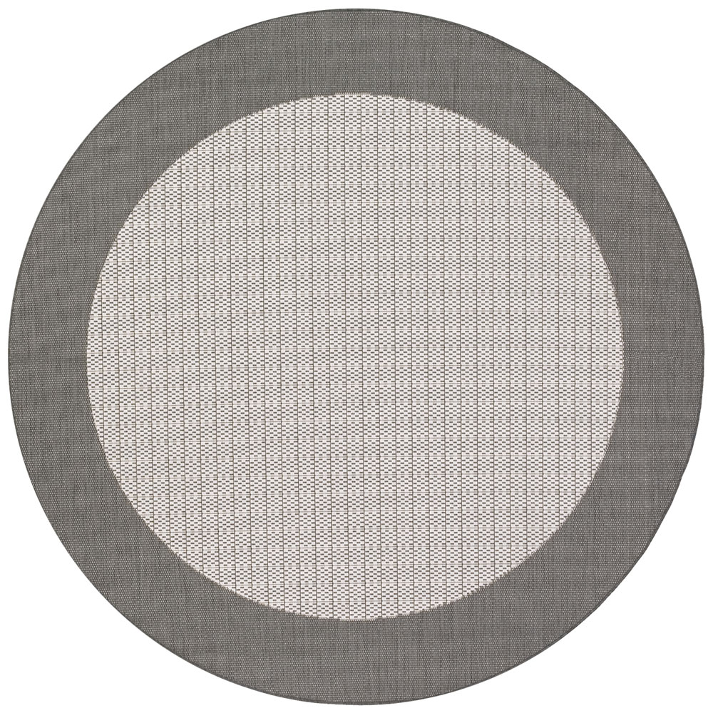 Checked Black Grey Rug: Couristan GREY/WHITE Outdoor Rug, RECIFE CHECKERED FIELD