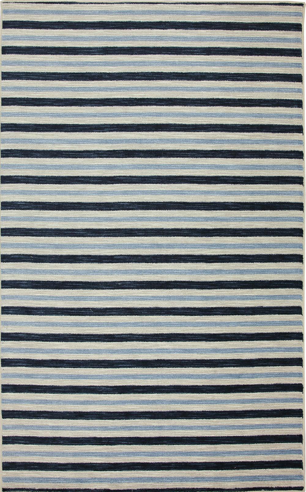 Karastan Aurora Monterey Stripe Blue Navy Rug