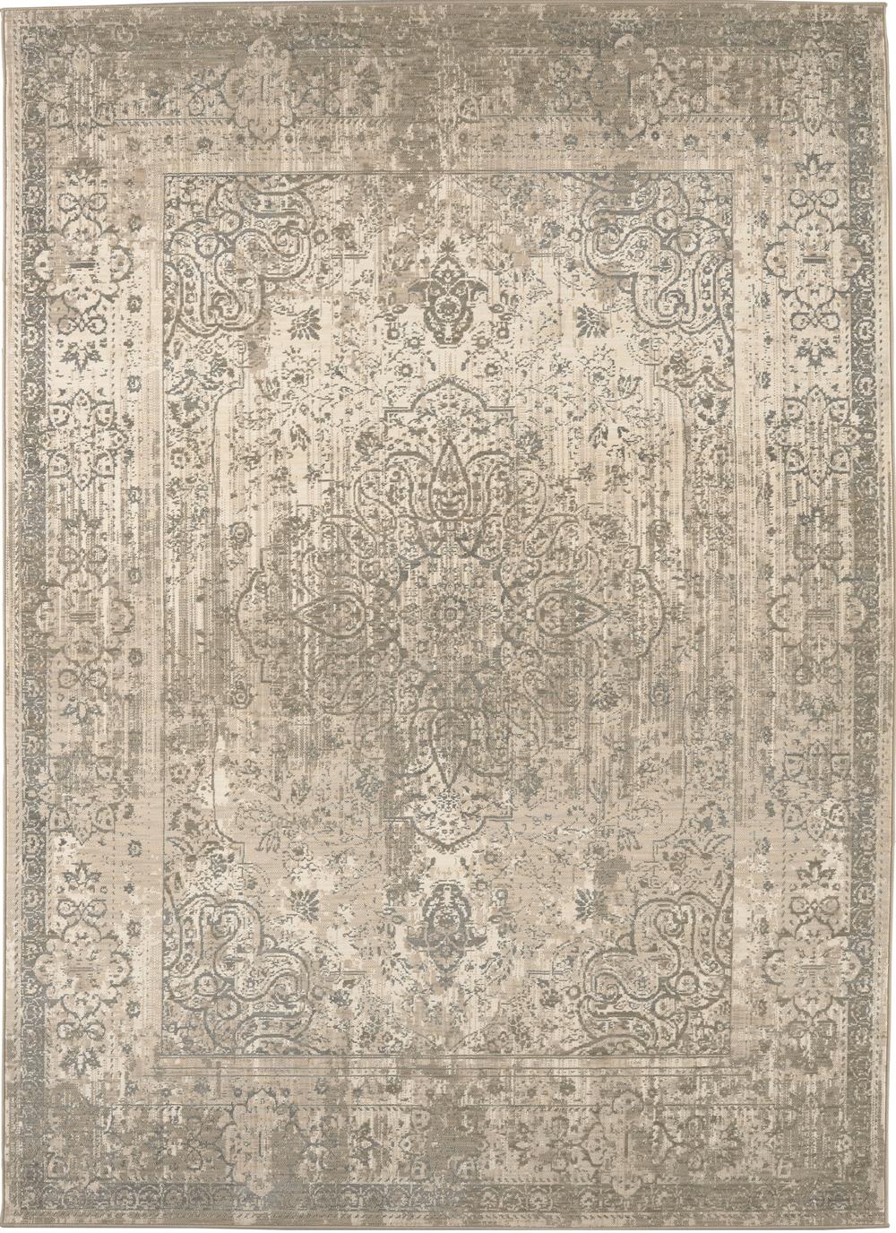 Karastan Kismet Karma Silver Natural Cotton Rug