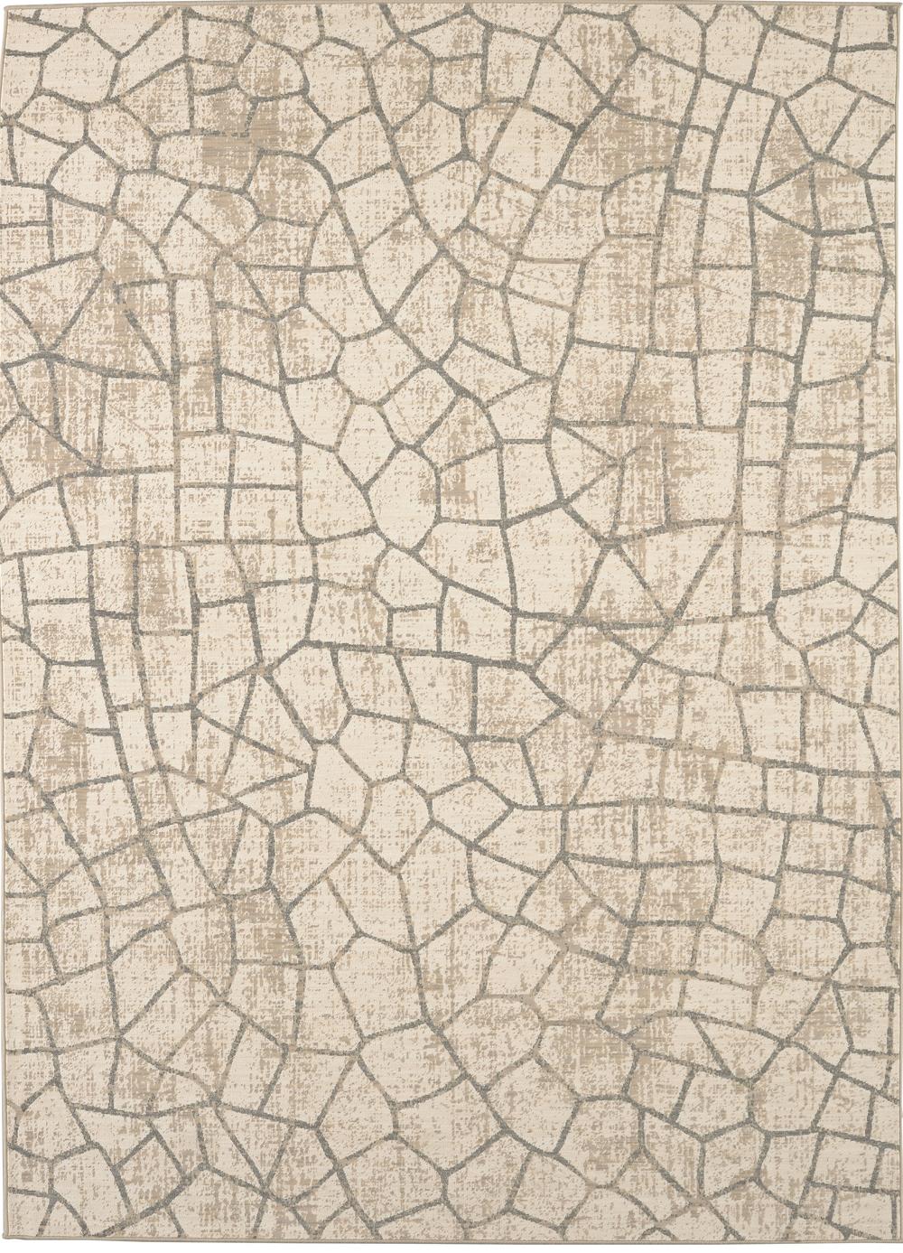 Karastan Kismet Fragment Ivory Natural Cotton Rug