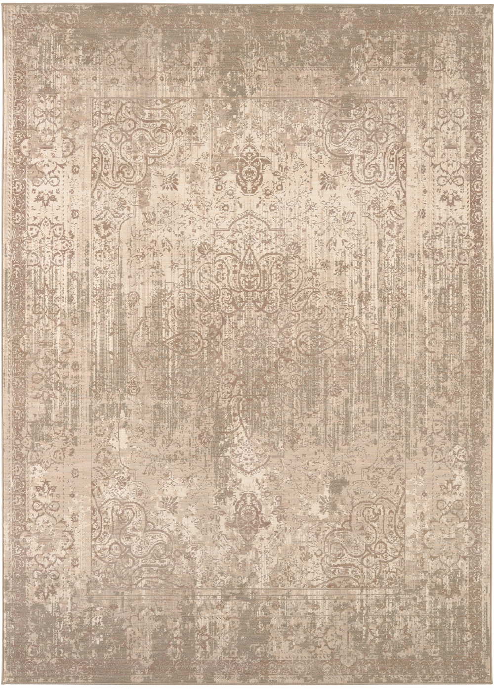 Karastan Kismet Karma Blush Natural Cotton Rug
