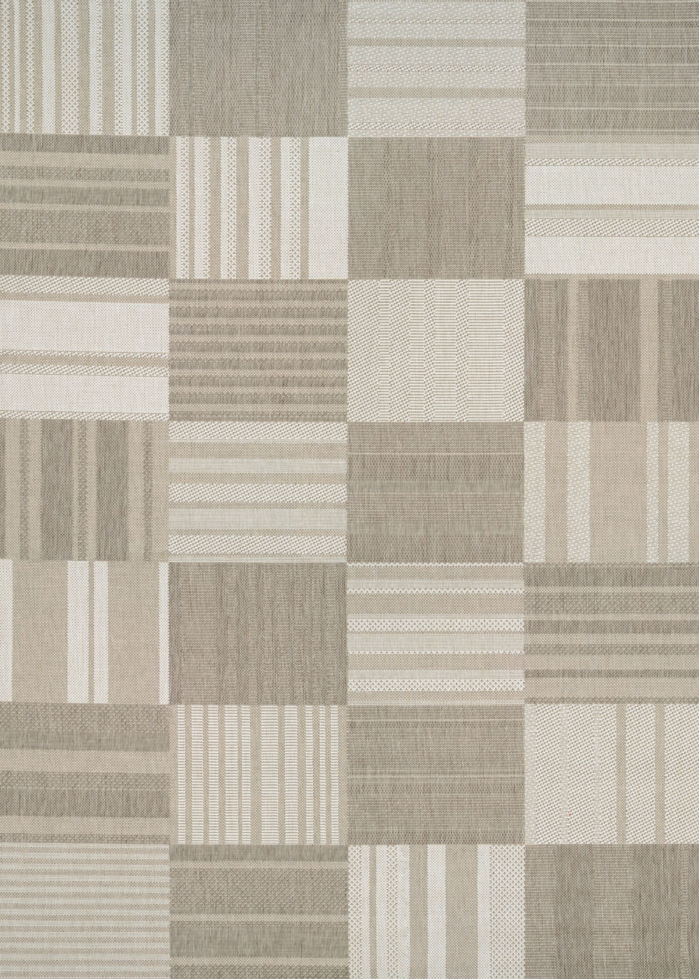 Couristan AFUERA PATCHWORK BEIGE/IVORY Rug