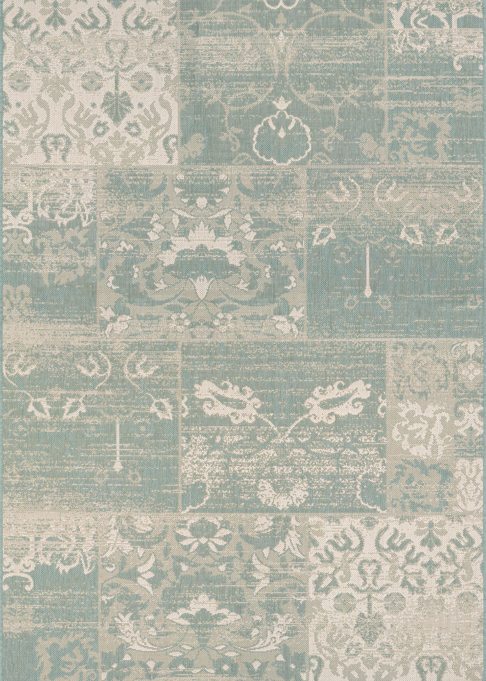 Couristan AFUERA COUNTRY COTTAGE SEA MIST/IVORY Rug