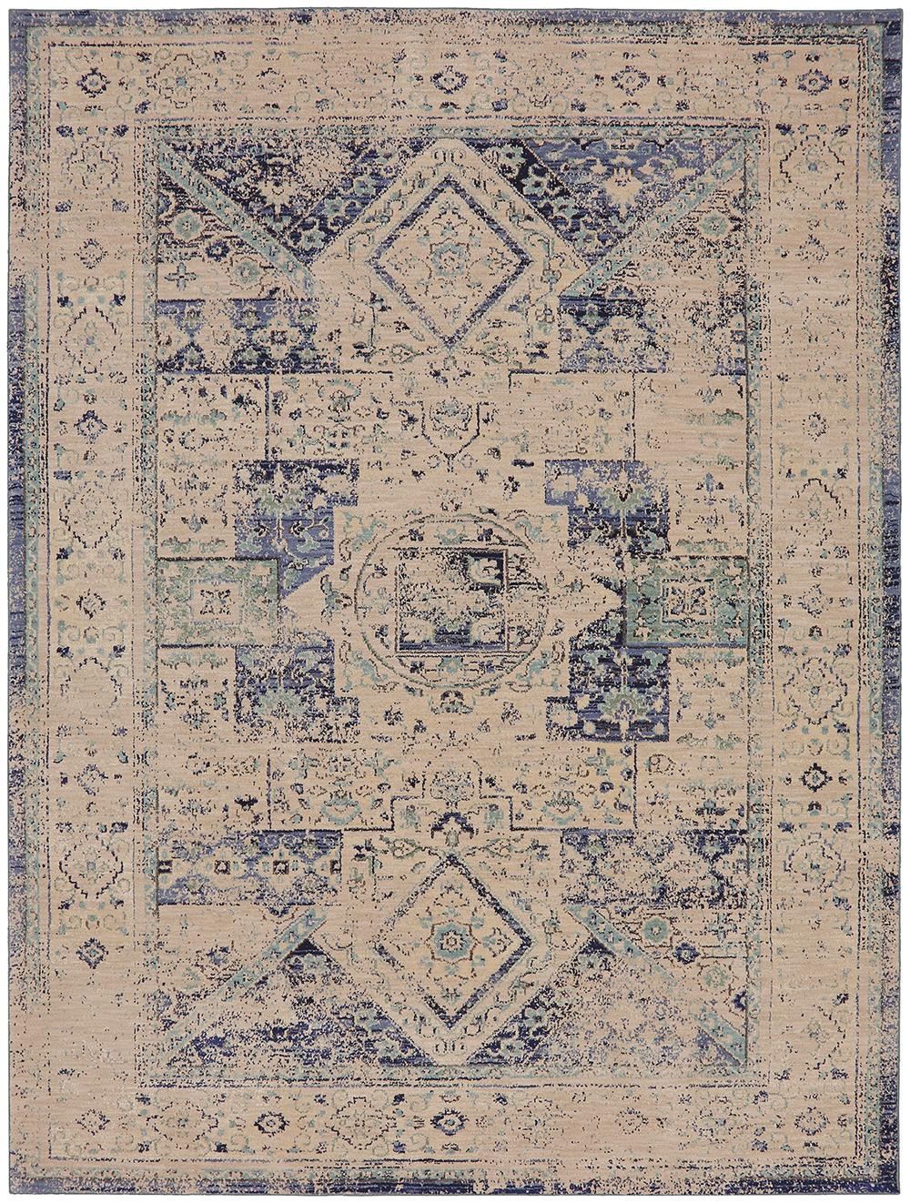 Karastan Cosmopolitan Santee Indigo Antique White Rug