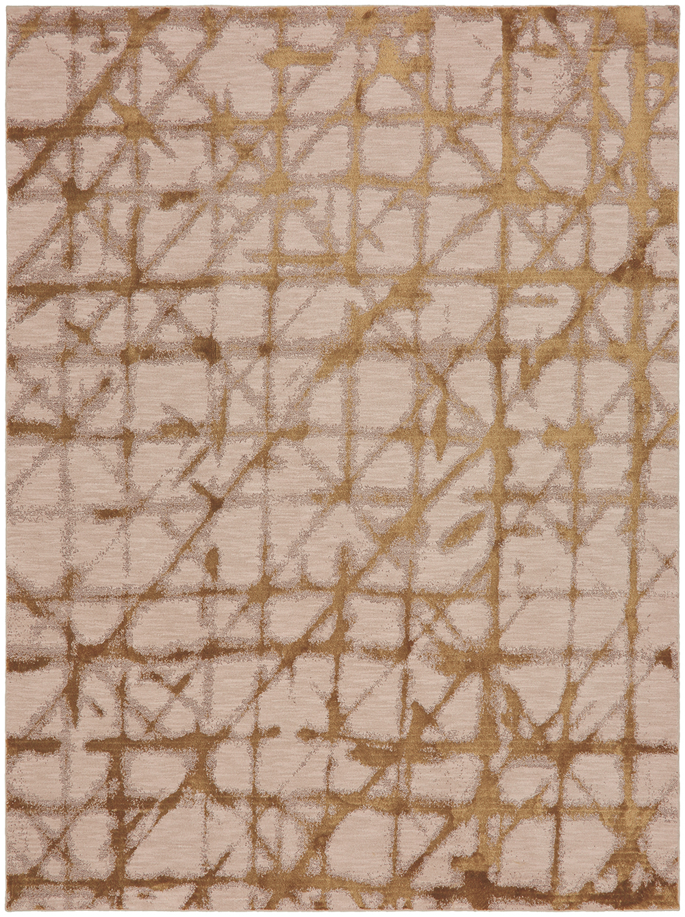 Karastan Enigma Contact Brushed Gold Antique White Rug