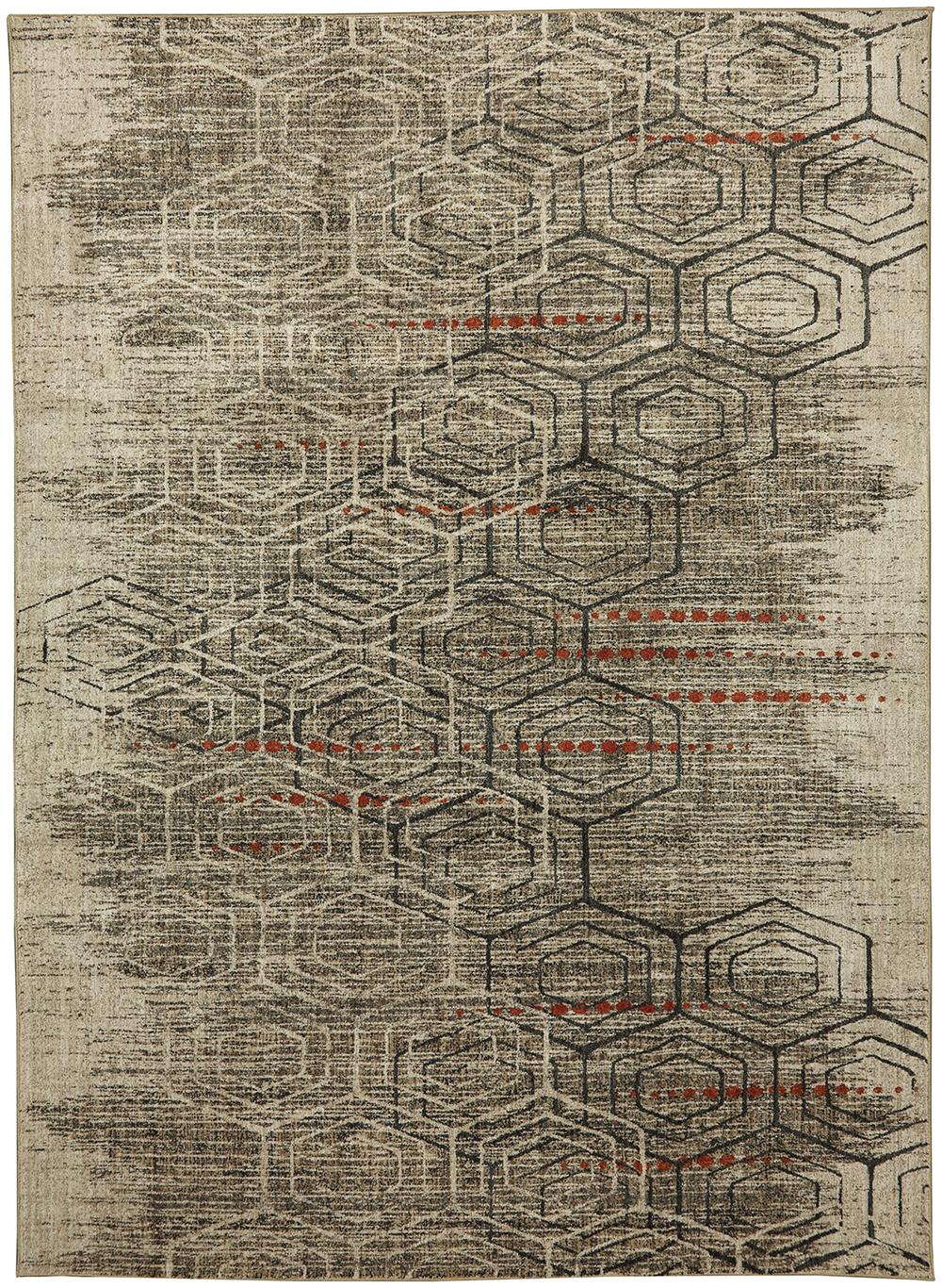 Karastan Metropolitan Jemma Onyx by Virginia Langley Oat Rug