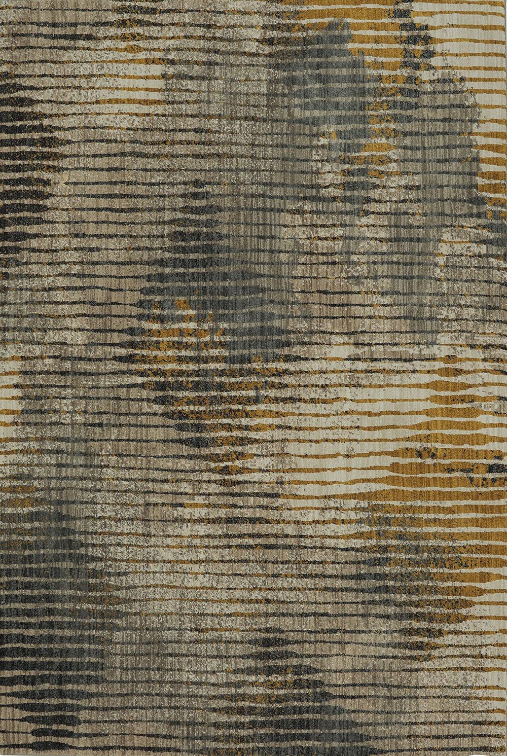 Karastan Muse Wireframe Mustard Dark Linen Rug
