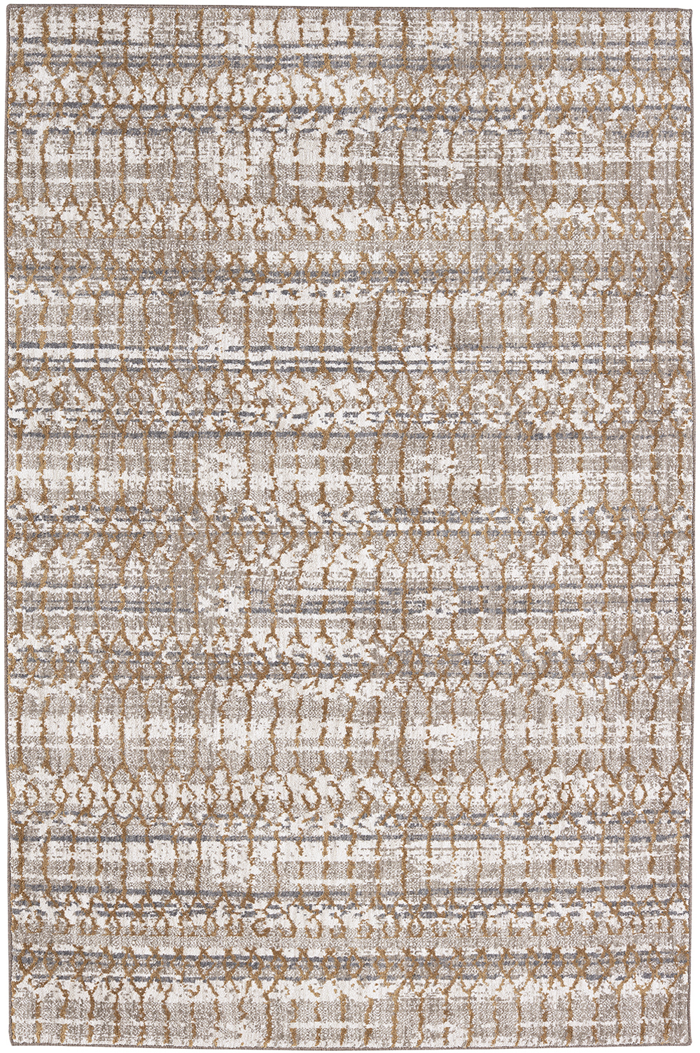Karastan Cosmopolitan Flirt Brushed Gold by Patina Vie Antique White Rug