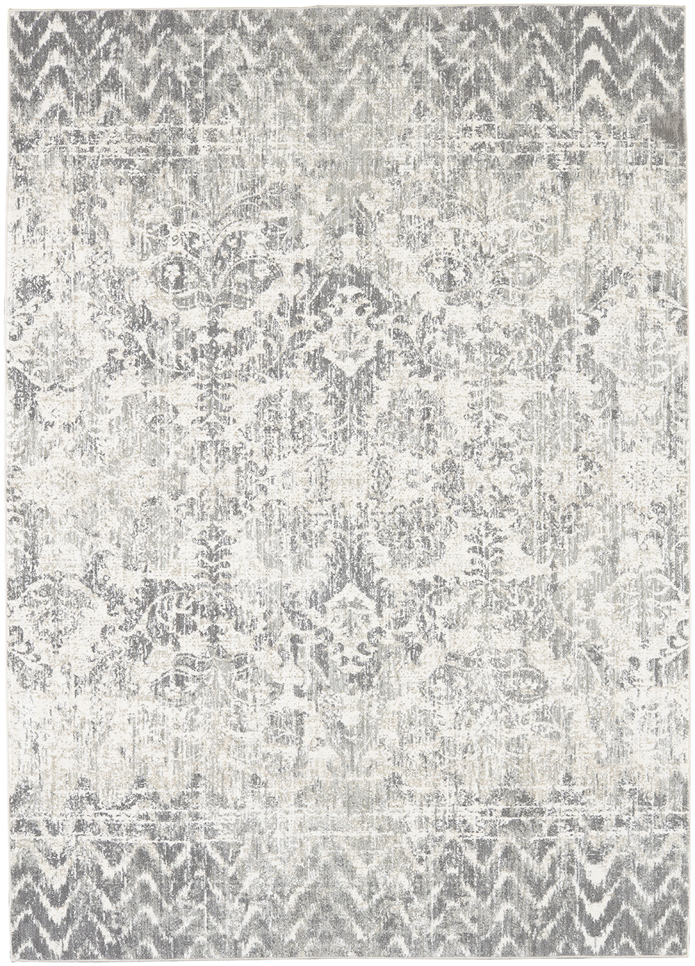 Karastan Touchstone Le Jardin Willow Gray by Patina Vie Natural Cotton Rug