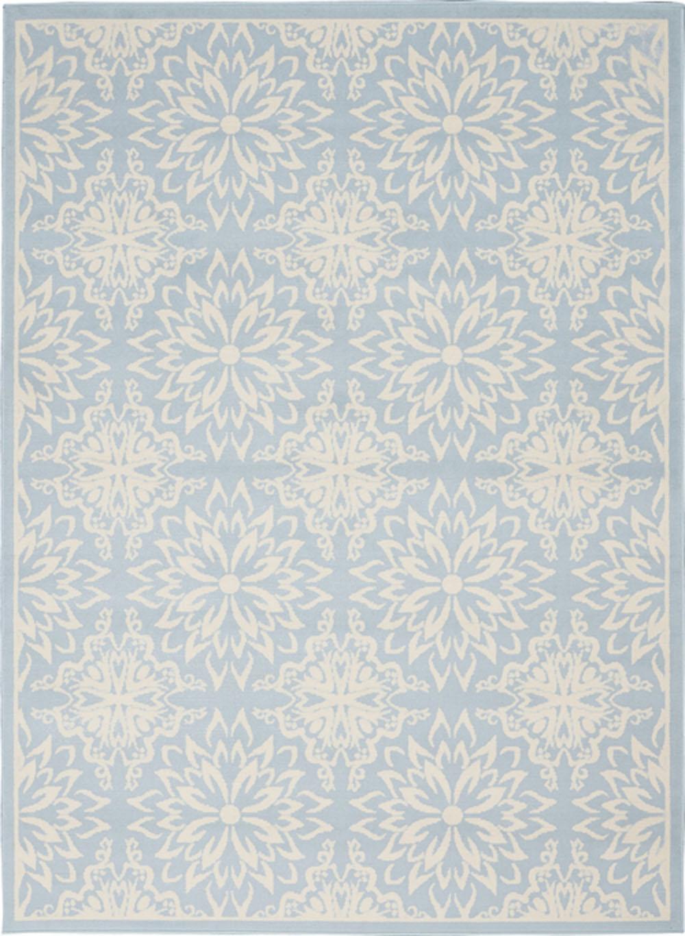 Nourison Jubilant JUB06 Ivory/Light Blue Rug