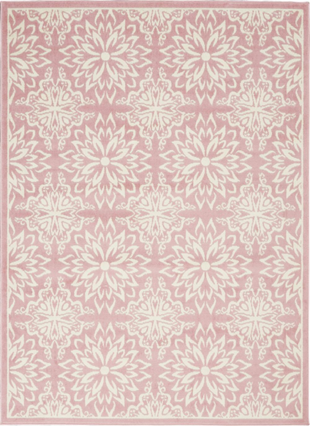 Nourison Jubilant JUB06 Ivory/Pink Rug