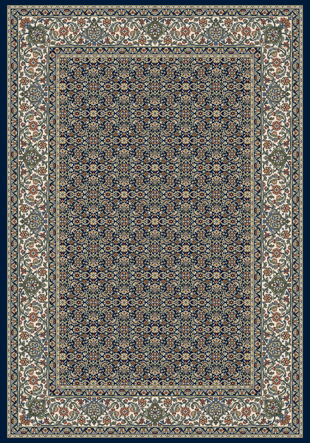 Dynamic ANCIENT GARDEN 57011 NAVY Rug