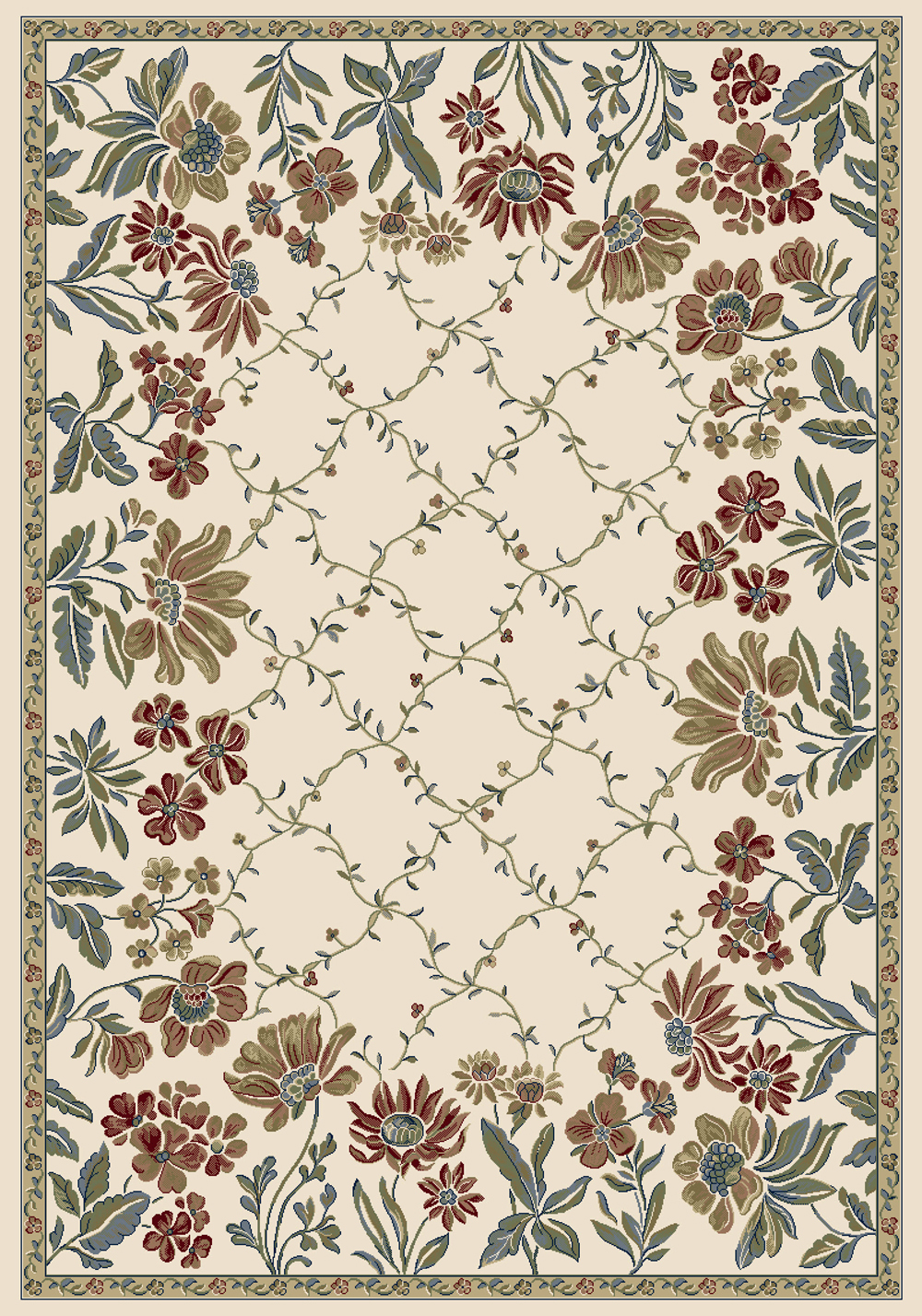 Dynamic ANCIENT GARDEN 57084 IVORY Rug