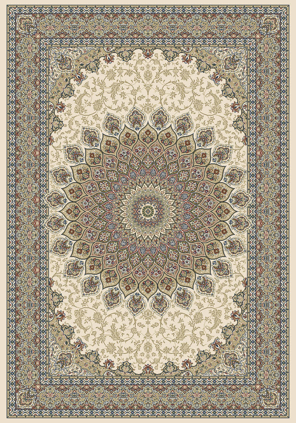 Dynamic ANCIENT GARDEN 57090 IVORY Rug
