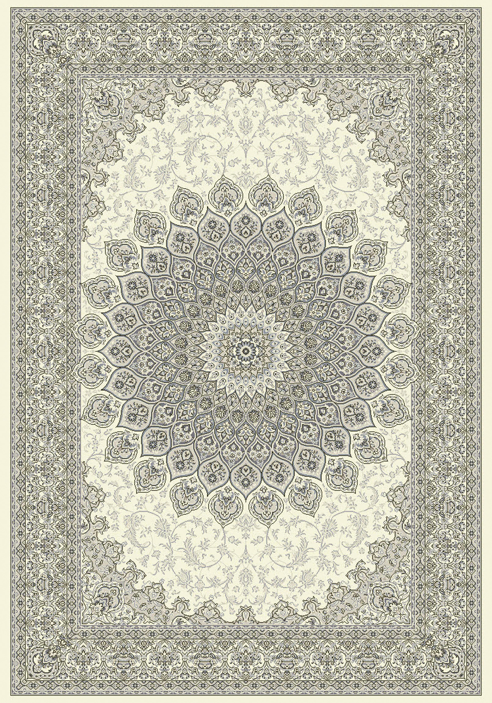 Dynamic ANCIENT GARDEN 57090 CREAM/GREY Rug