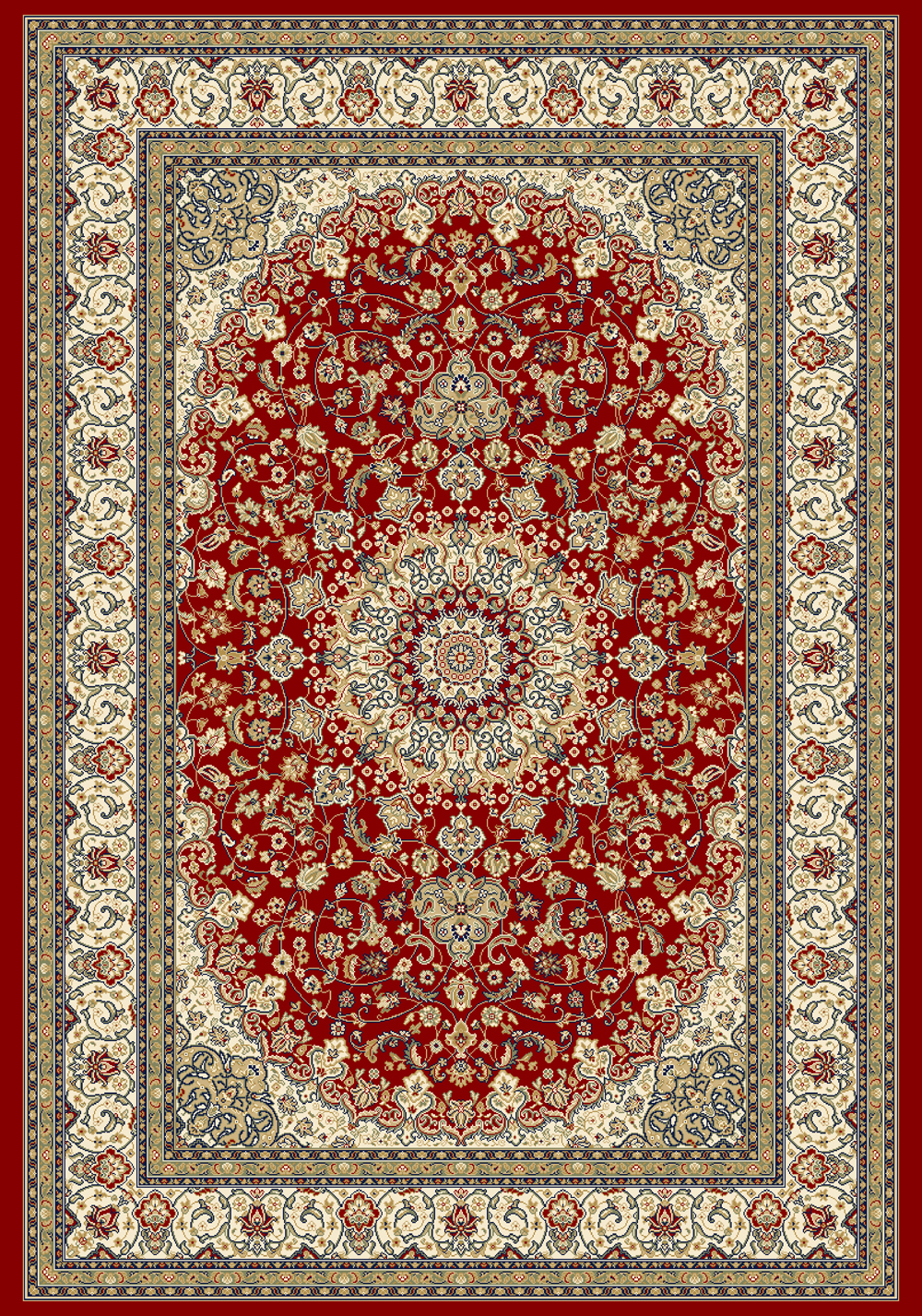 Dynamic ANCIENT GARDEN 57119 RED/IVORY Rug