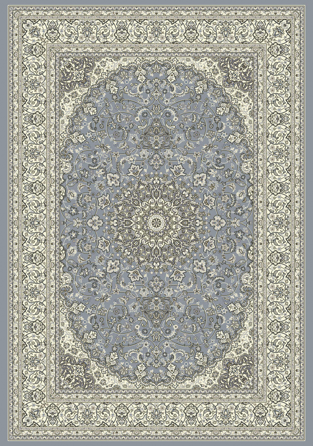 Dynamic ANCIENT GARDEN 57119 STEEL BLUE/CREAM Rug