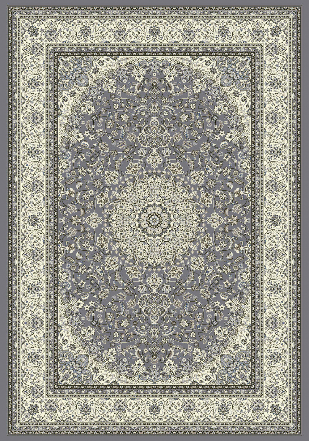 Dynamic ANCIENT GARDEN 57119 GREY/CREAM Rug