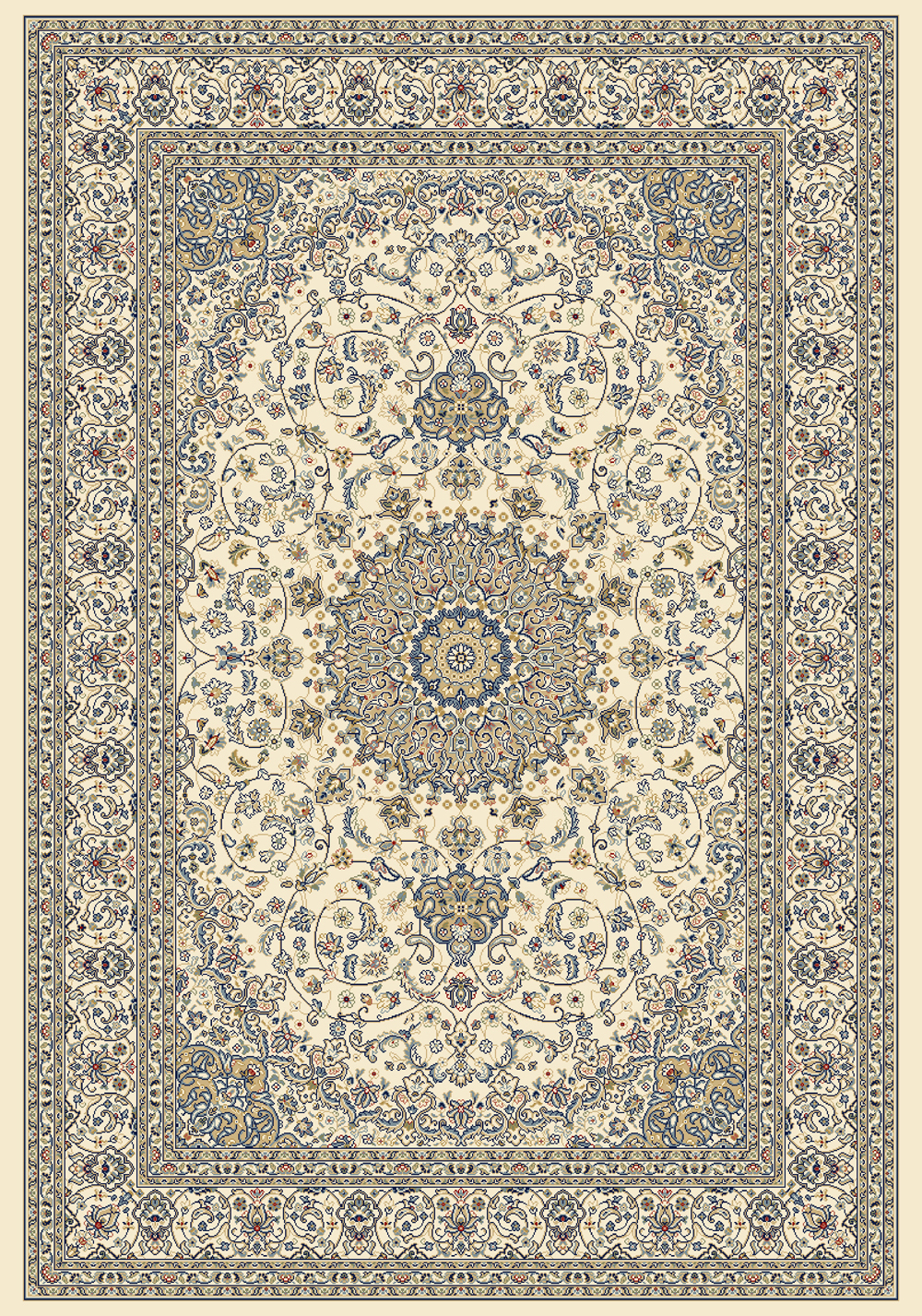 Dynamic ANCIENT GARDEN 57119 IVORY Rug