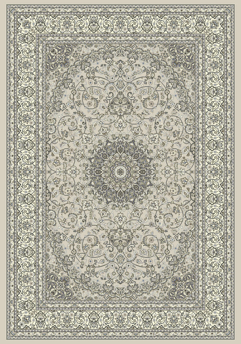 Dynamic ANCIENT GARDEN 57119 SOFT GREY/CREAM Rug