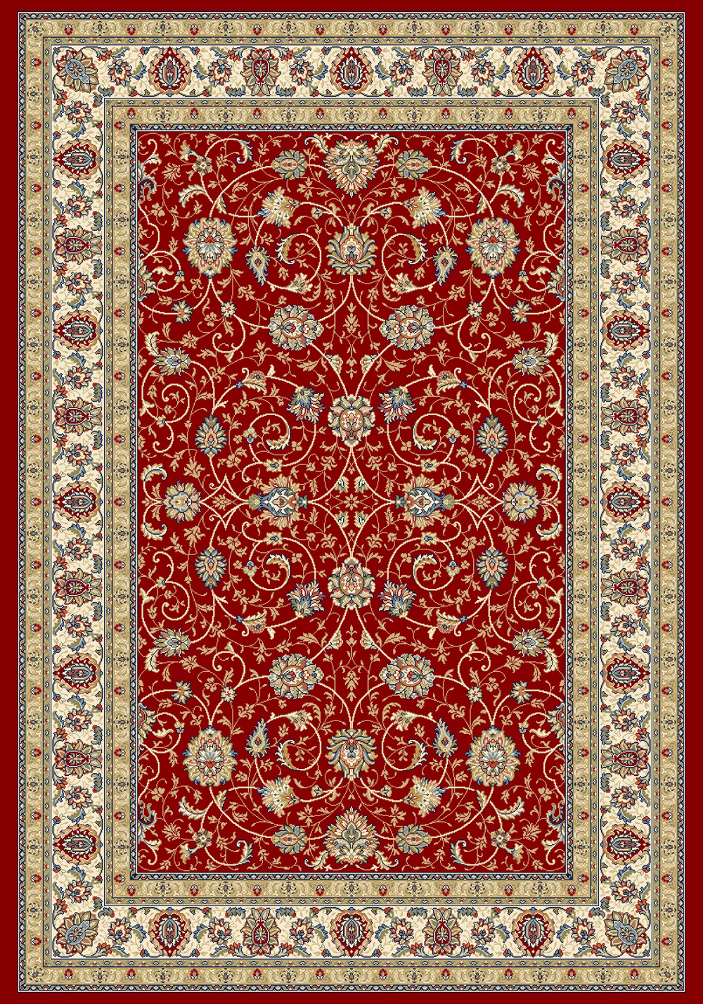 Dynamic ANCIENT GARDEN 57120 RED/IVORY Rug