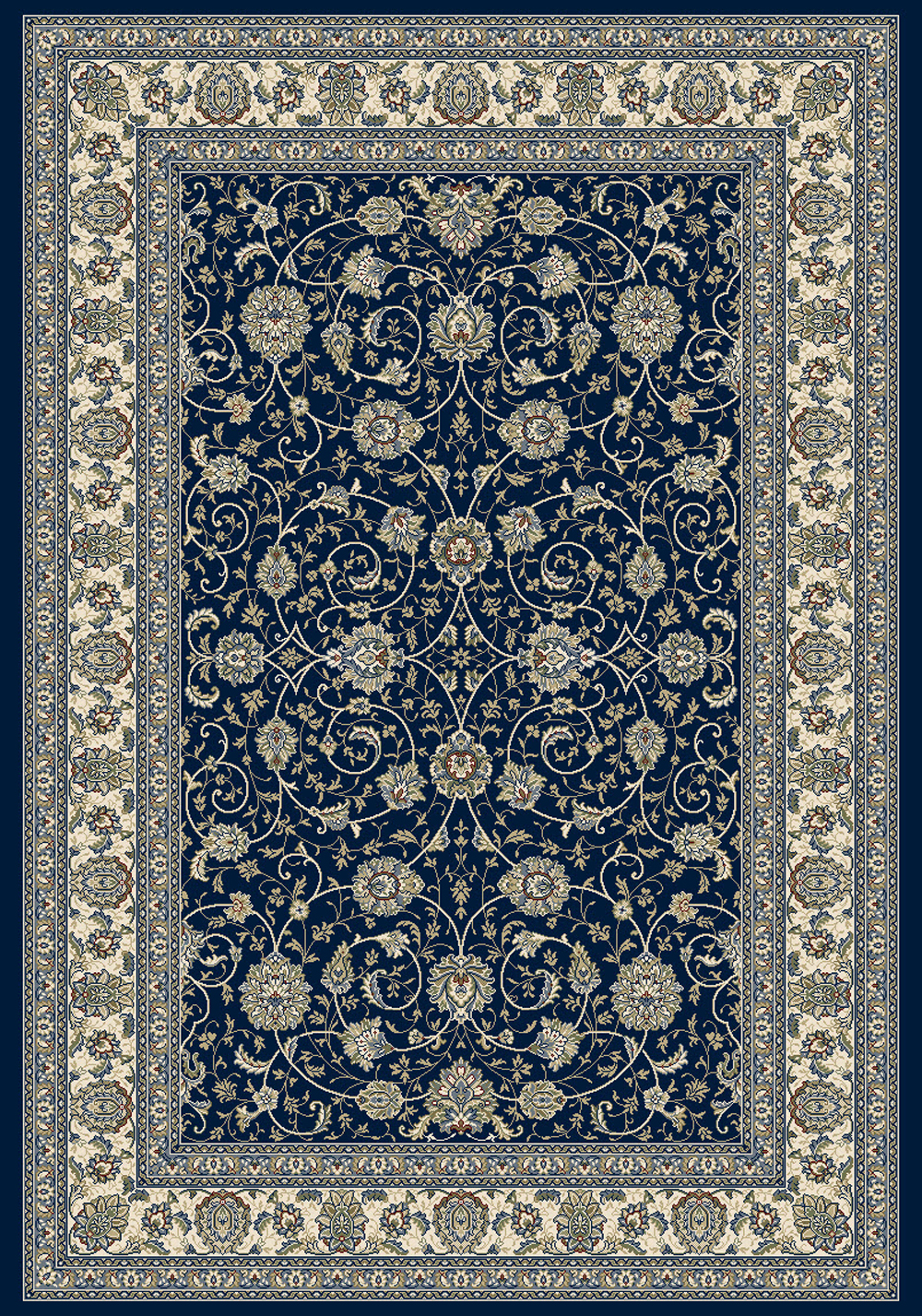 Dynamic ANCIENT GARDEN 57120 BLUE/IVORY Rug