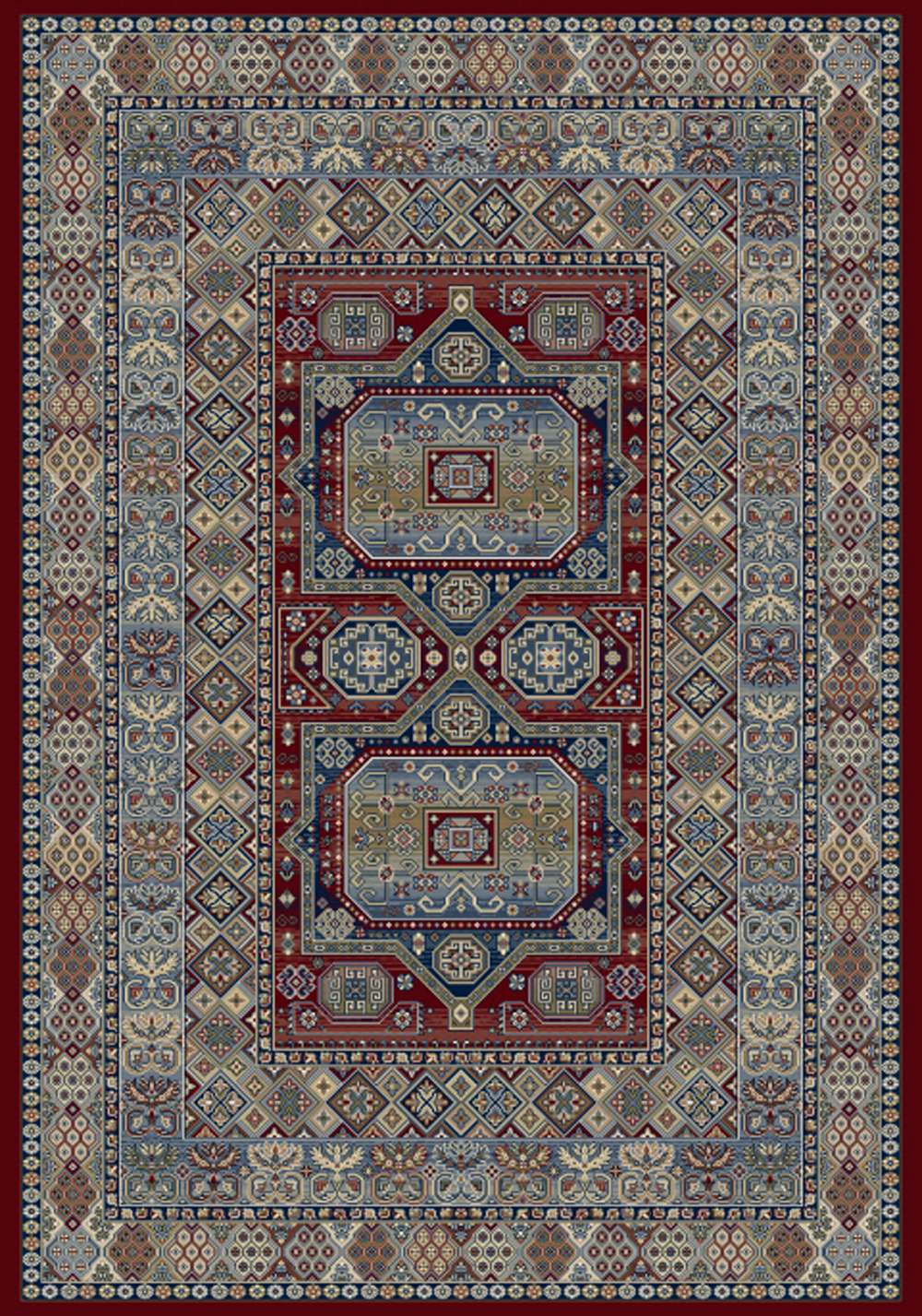 Dynamic ANCIENT GARDEN 57147 RED Rug