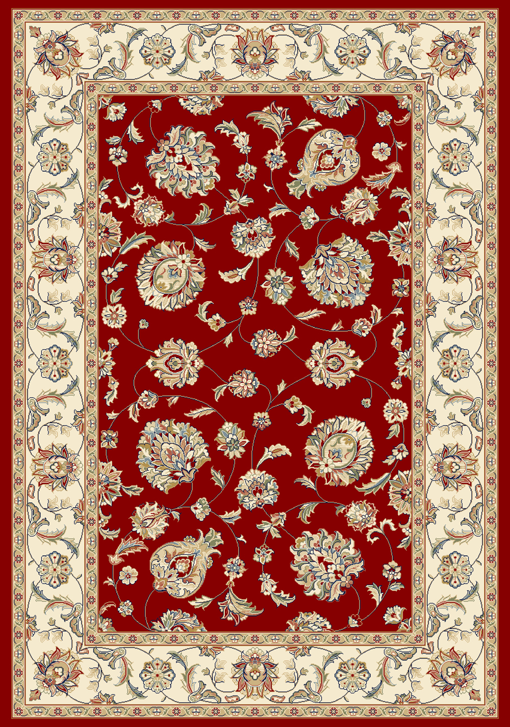 Dynamic ANCIENT GARDEN 57365 RED/IVORY Rug
