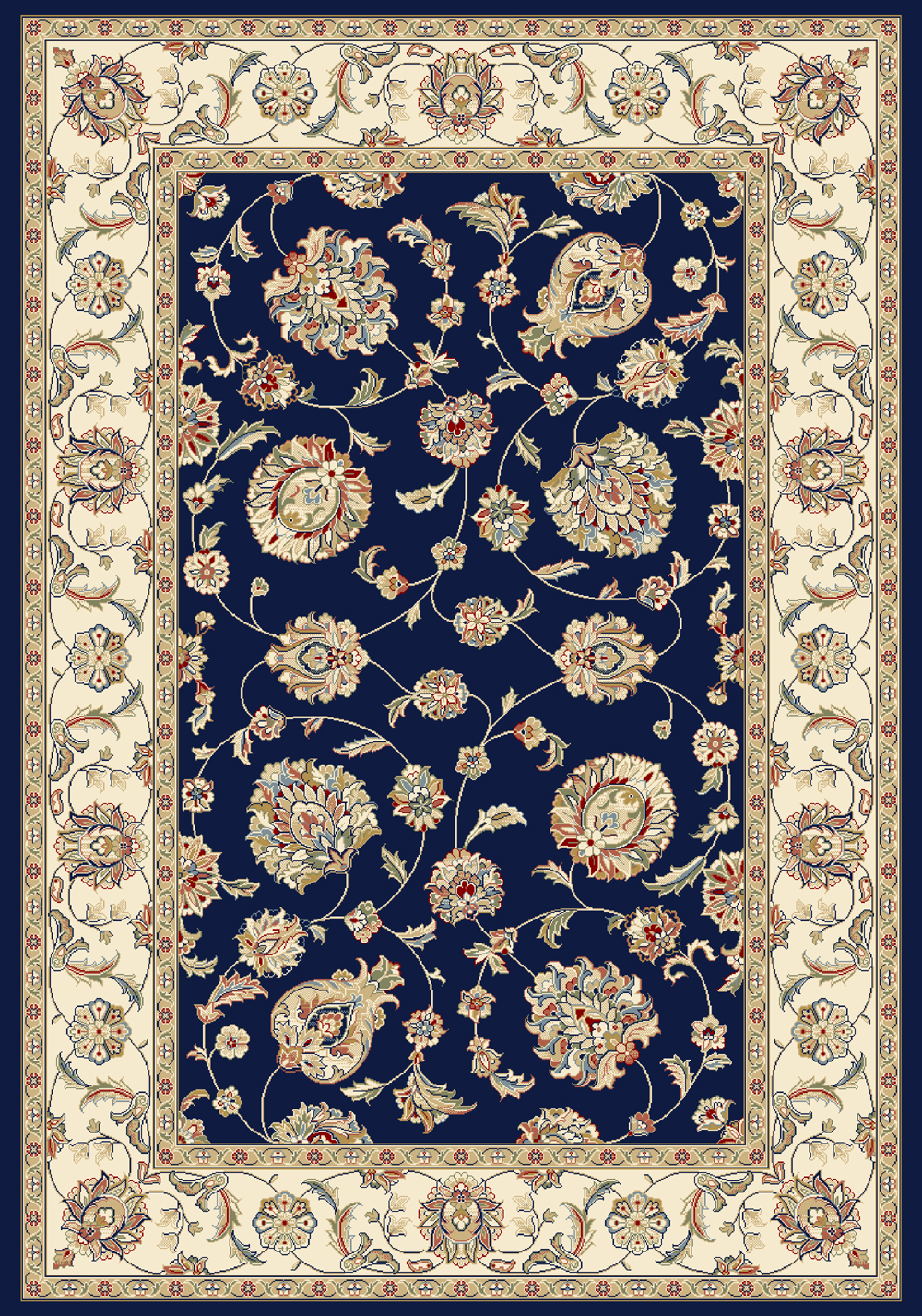 Dynamic ANCIENT GARDEN 57365 BLUE/IVORY Rug