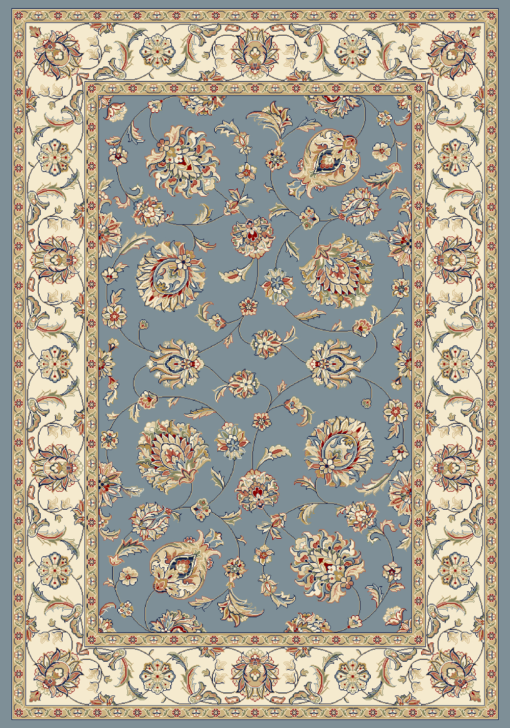 Dynamic ANCIENT GARDEN 57365 LT.BLUE/IVORY Rug