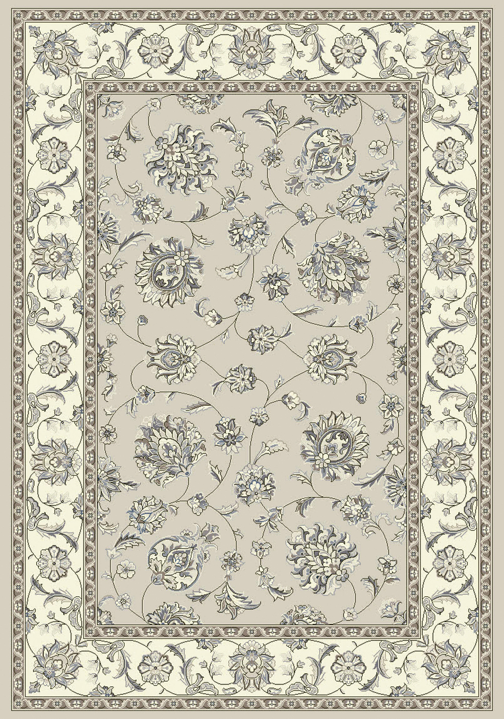 Dynamic ANCIENT GARDEN 57365 SOFT GREY/CREAM Rug