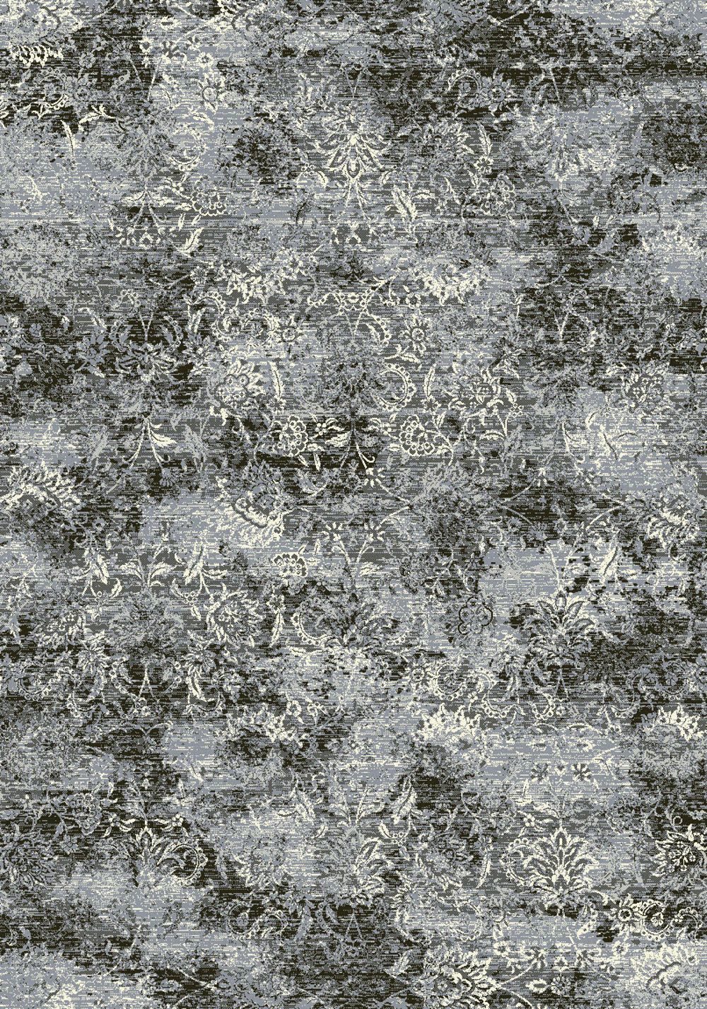 Dynamic ANCIENT GARDEN 57558 STEEL BLUE/CREAM Rug