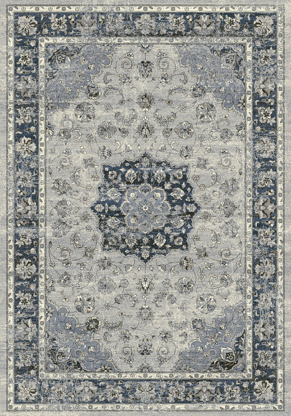 Dynamic ANCIENT GARDEN 57559 SILVER/BLUE Rug