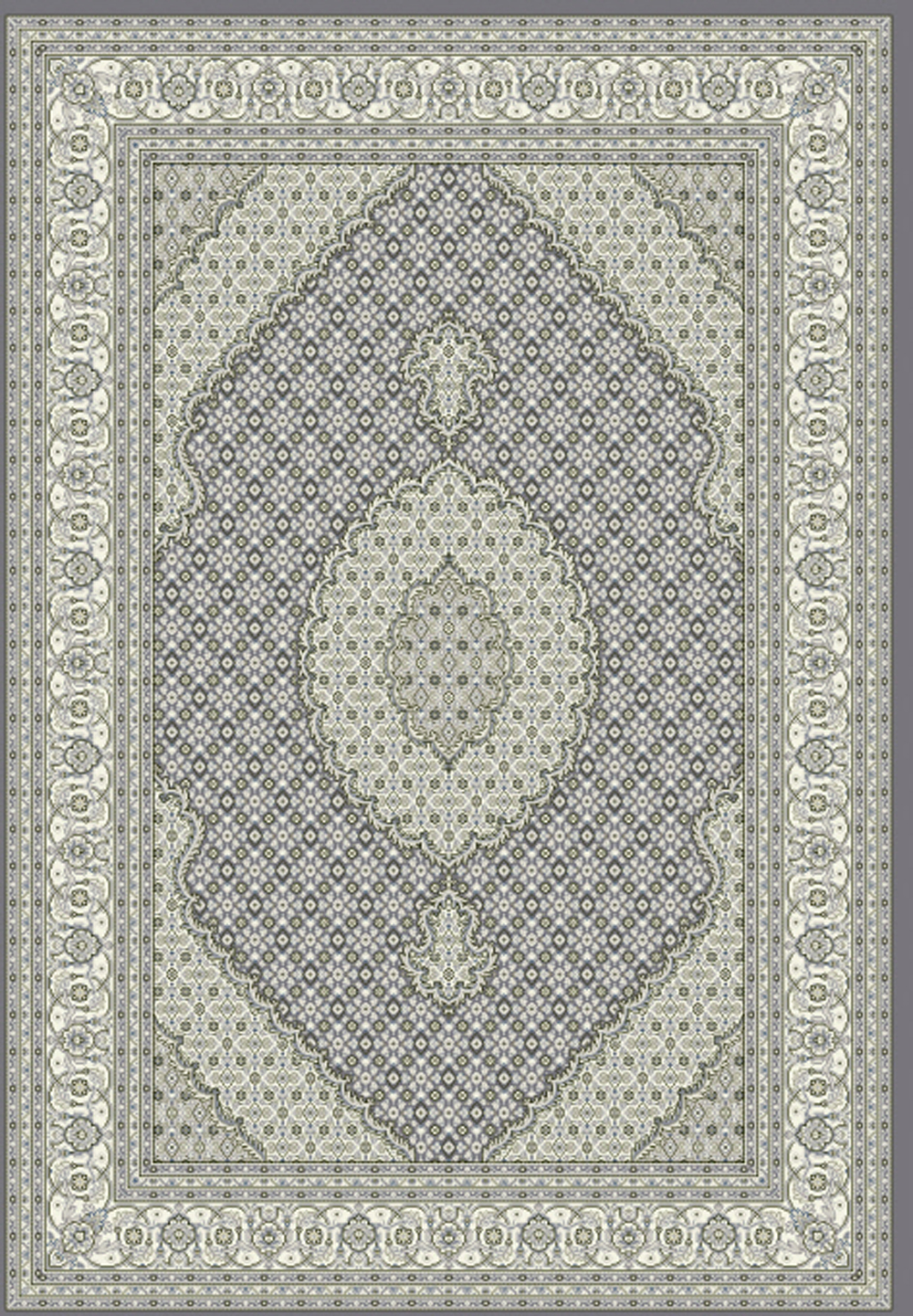 Dynamic ANCIENT GARDEN 57204 GREY/CREAM Rug