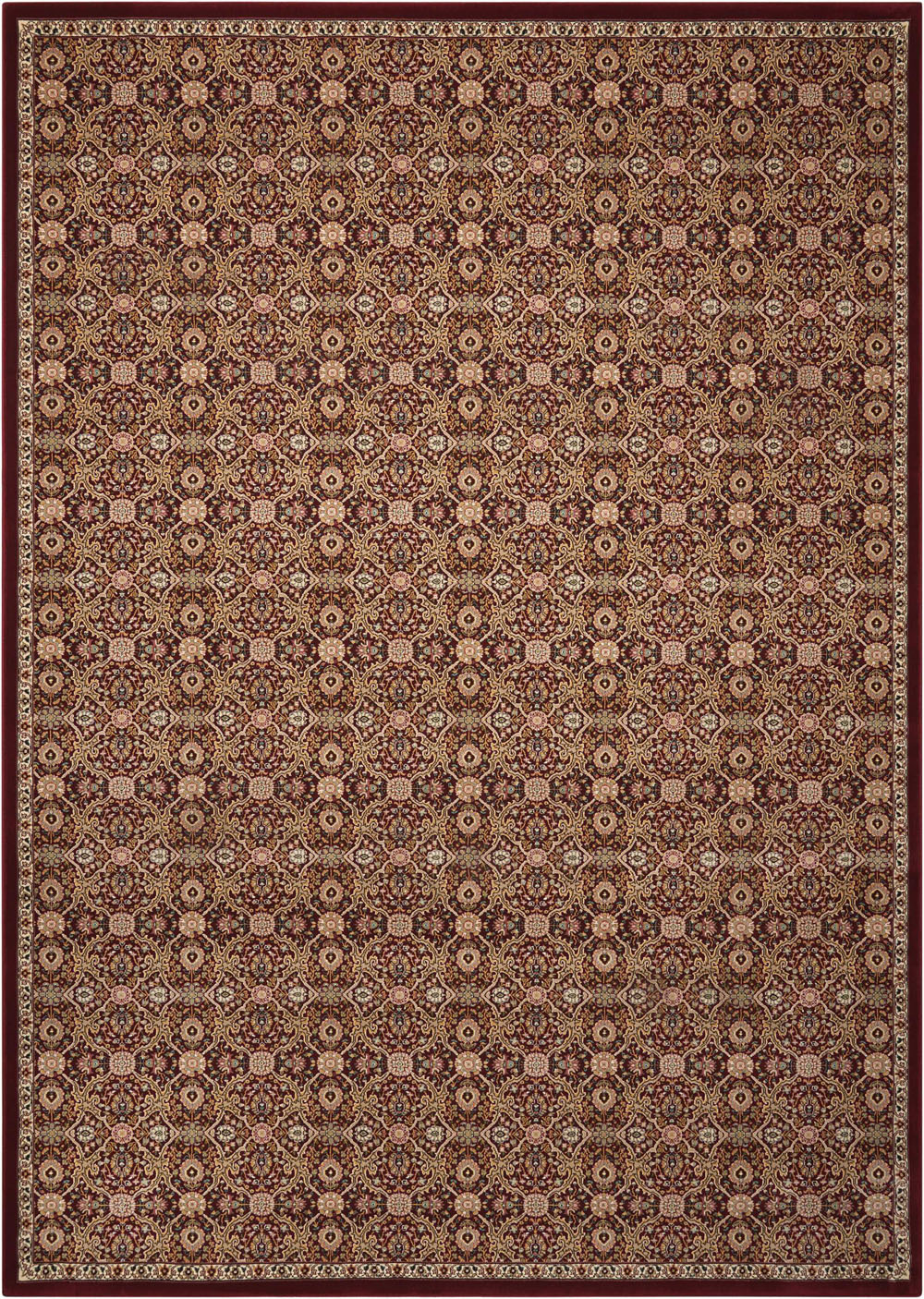 Kathy Ireland KI11 ANTIQUITIES ANT08 BURGUNDY Rug