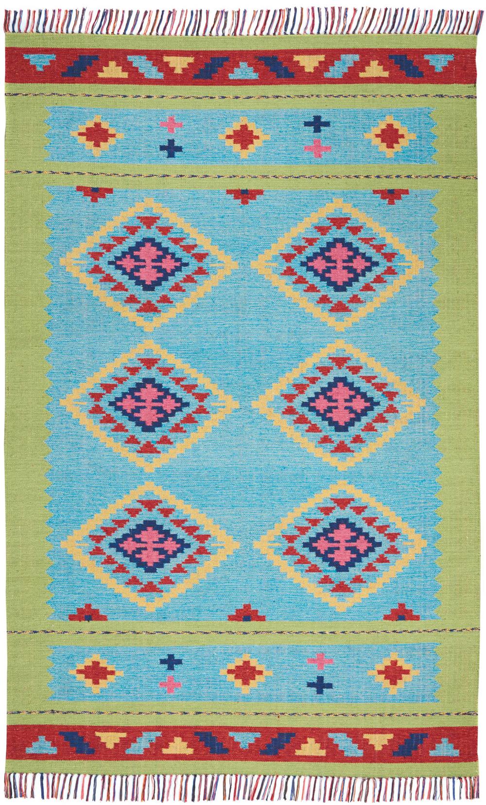 Nourison BAJA BAJ02 BLUE GREEN Rug