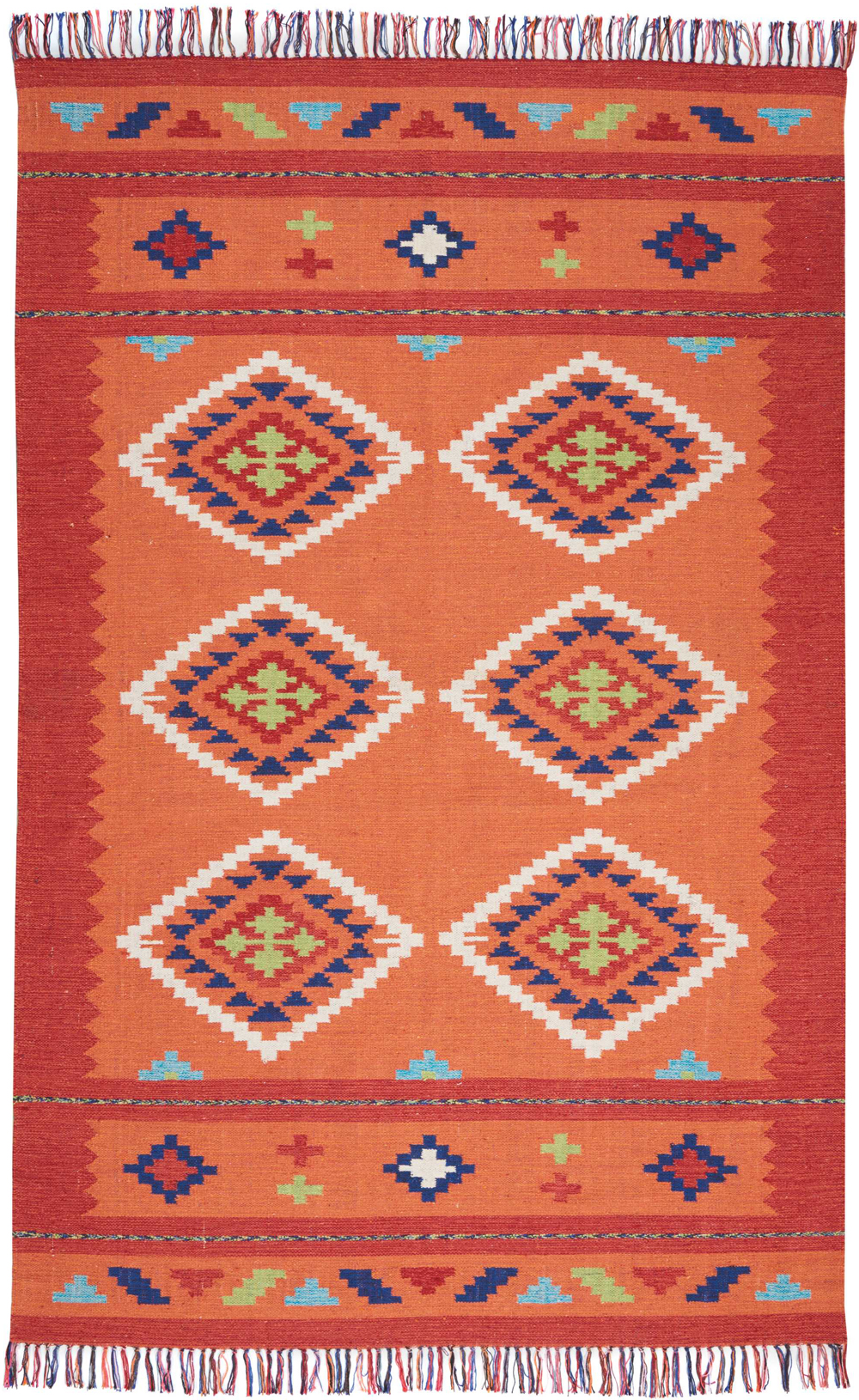 Nourison BAJA BAJ02 ORANGE/RED Rug