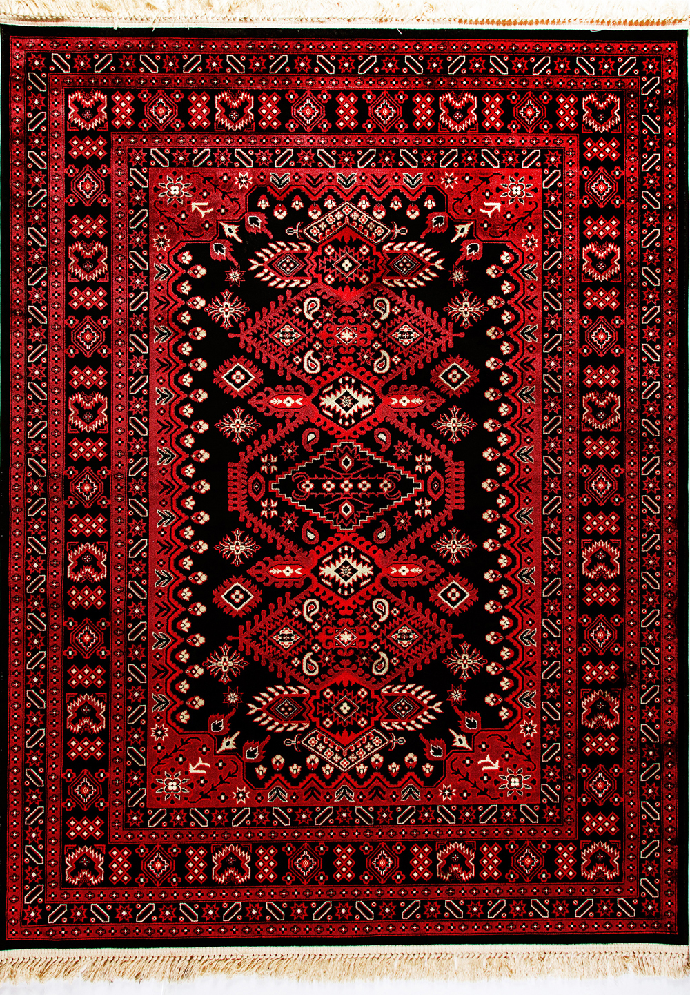 Dynamic CROWN 16223 RED/BLACK Rug