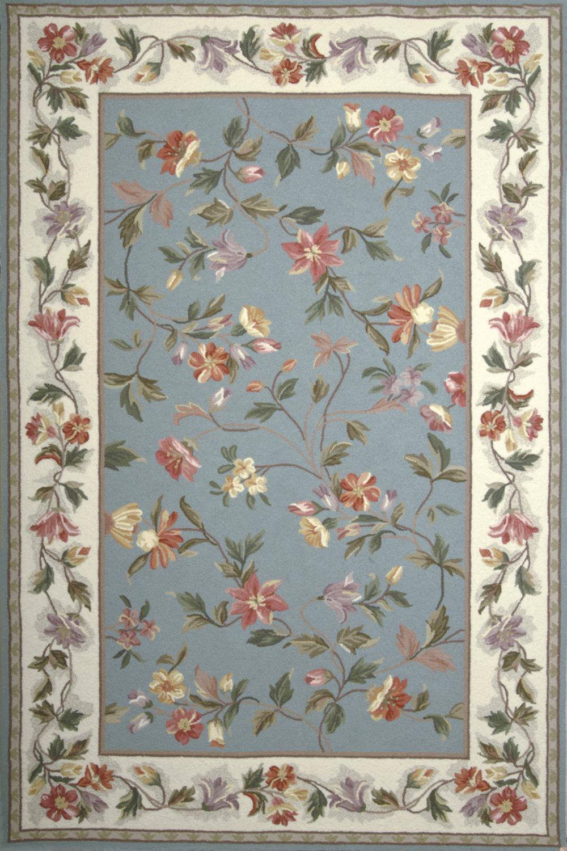 Kas Colonial 1728 Slate Blue/Ivory Rug
