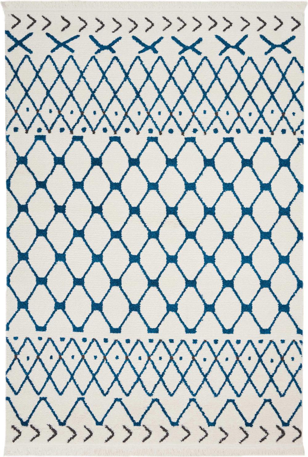 Nourison DWS05 KAMALA DS500 WHITE BLUE Rug