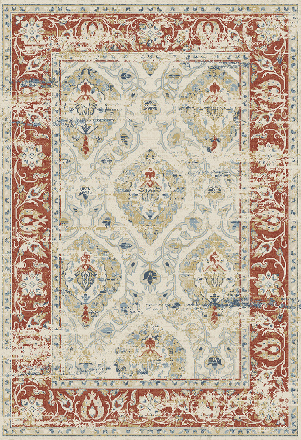 Dynamic ESSENCE 55780 IVORY/RED Rug