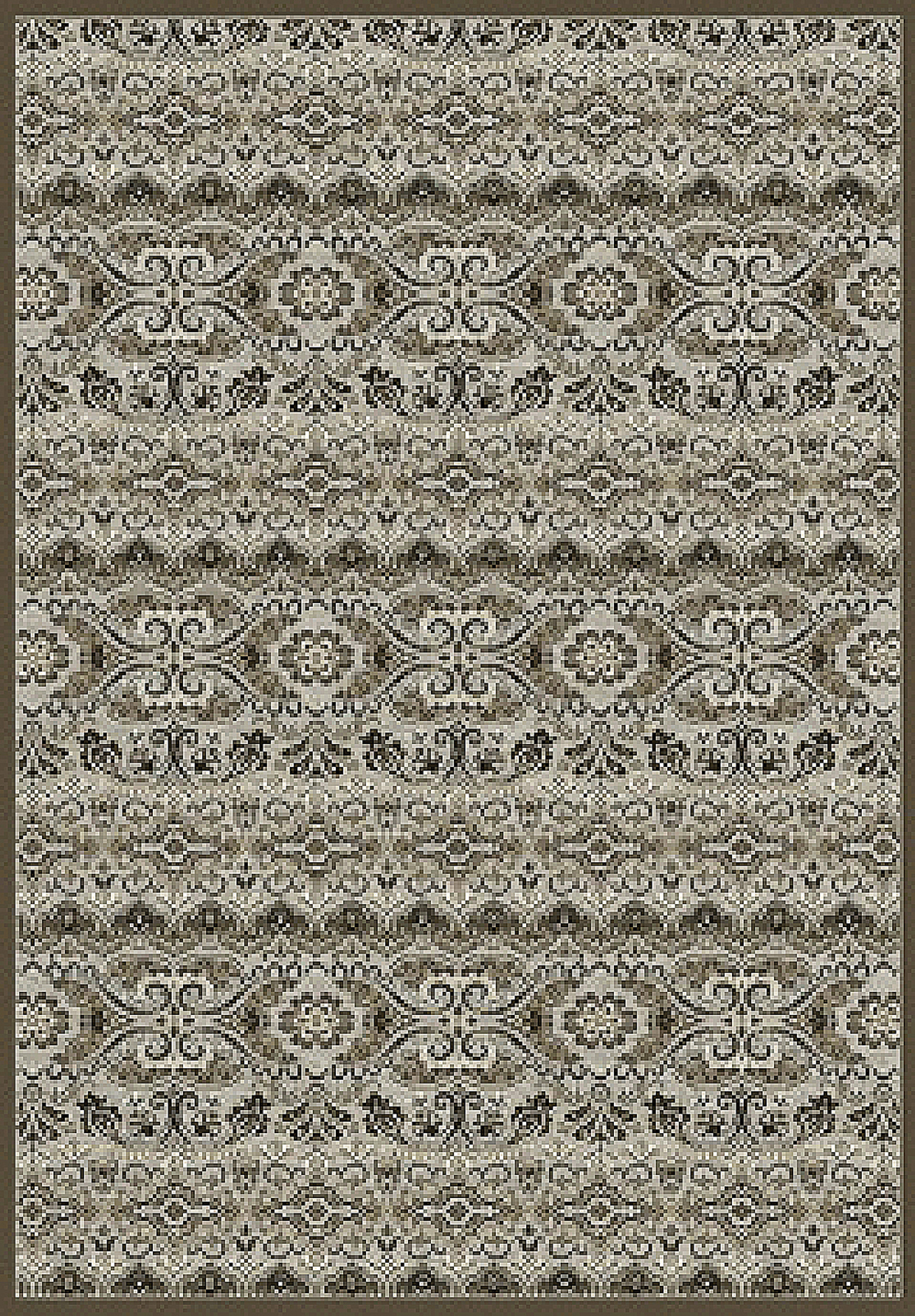 Dynamic GENOVA 38307 GREY/CHOCOLATE Rug