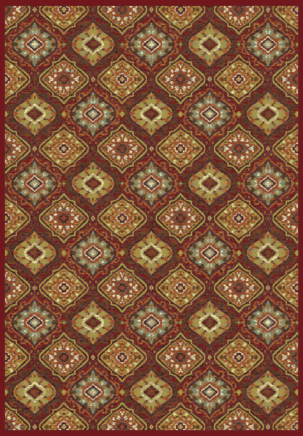 Dynamic GENOVA 38413 RED/MULTI Rug