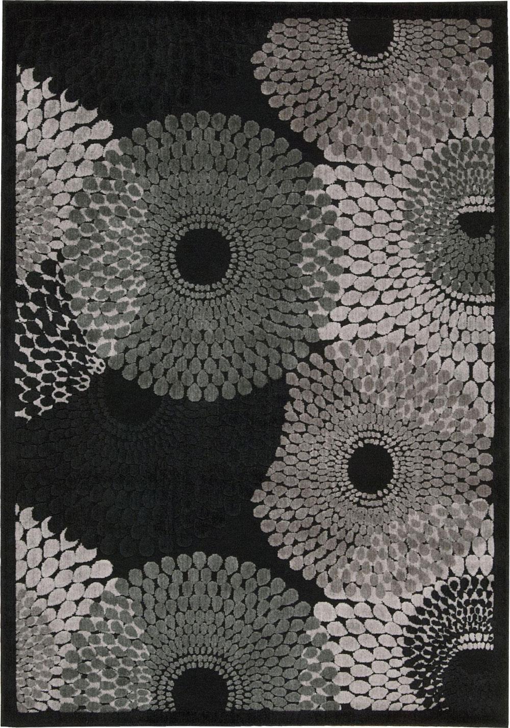 Nourison GRAPHIC ILLUSIONS GIL04 BLACK Rug