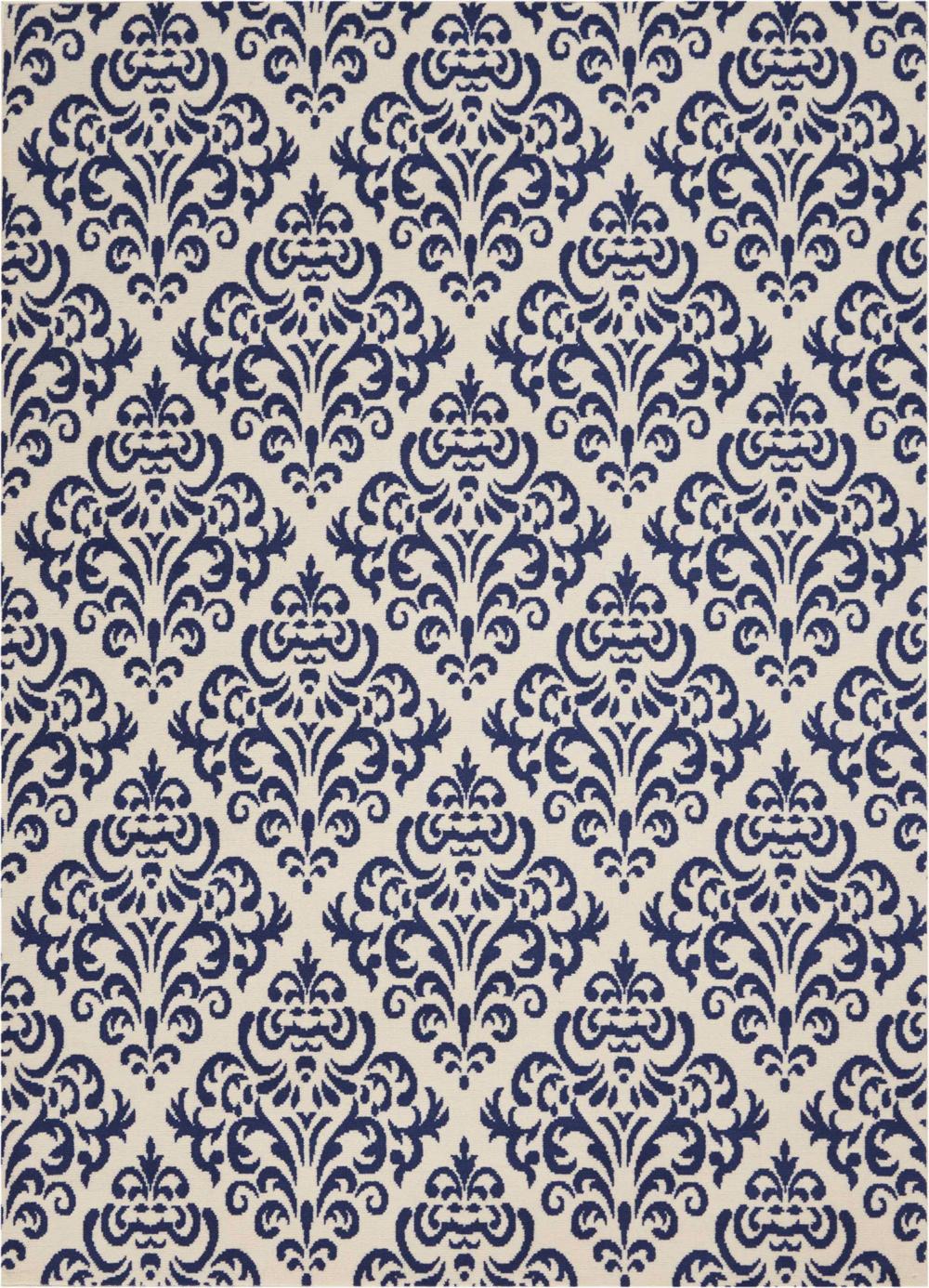 Nourison GRAFIX GRF06 WHITE BLUE Rug