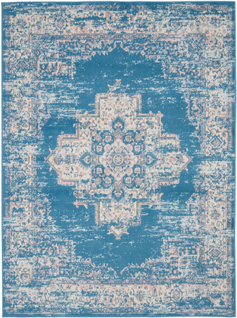Nourison Grafix GRF14 Blue Rug