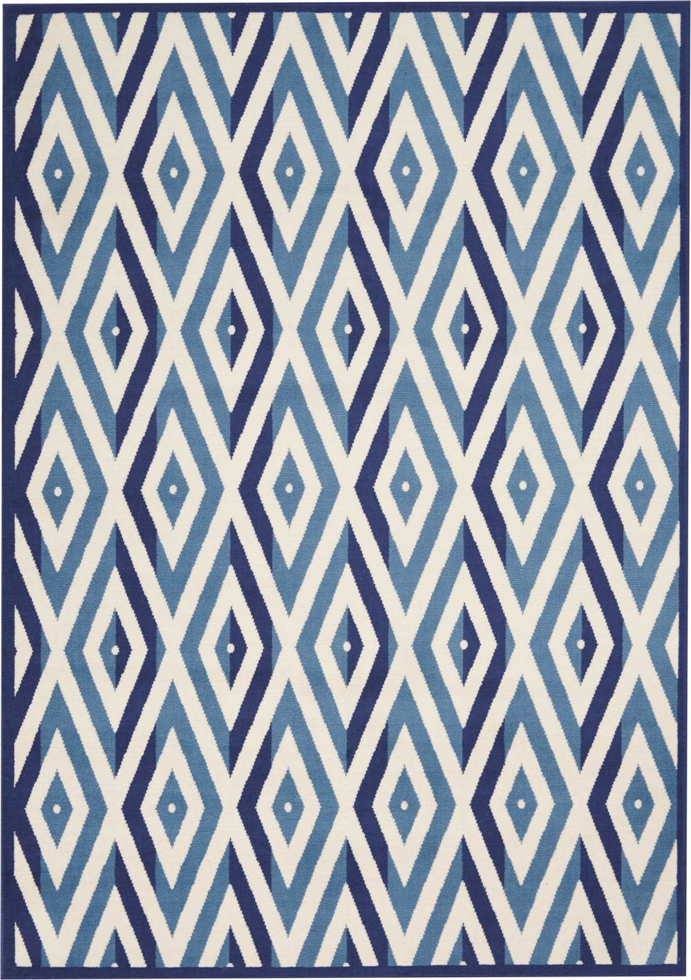 Nourison GRAFIX GRF18 WHITE BLUE Rug