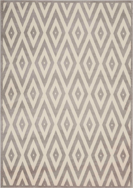 Nourison GRAFIX GRF18 WHITE/GREY Rug