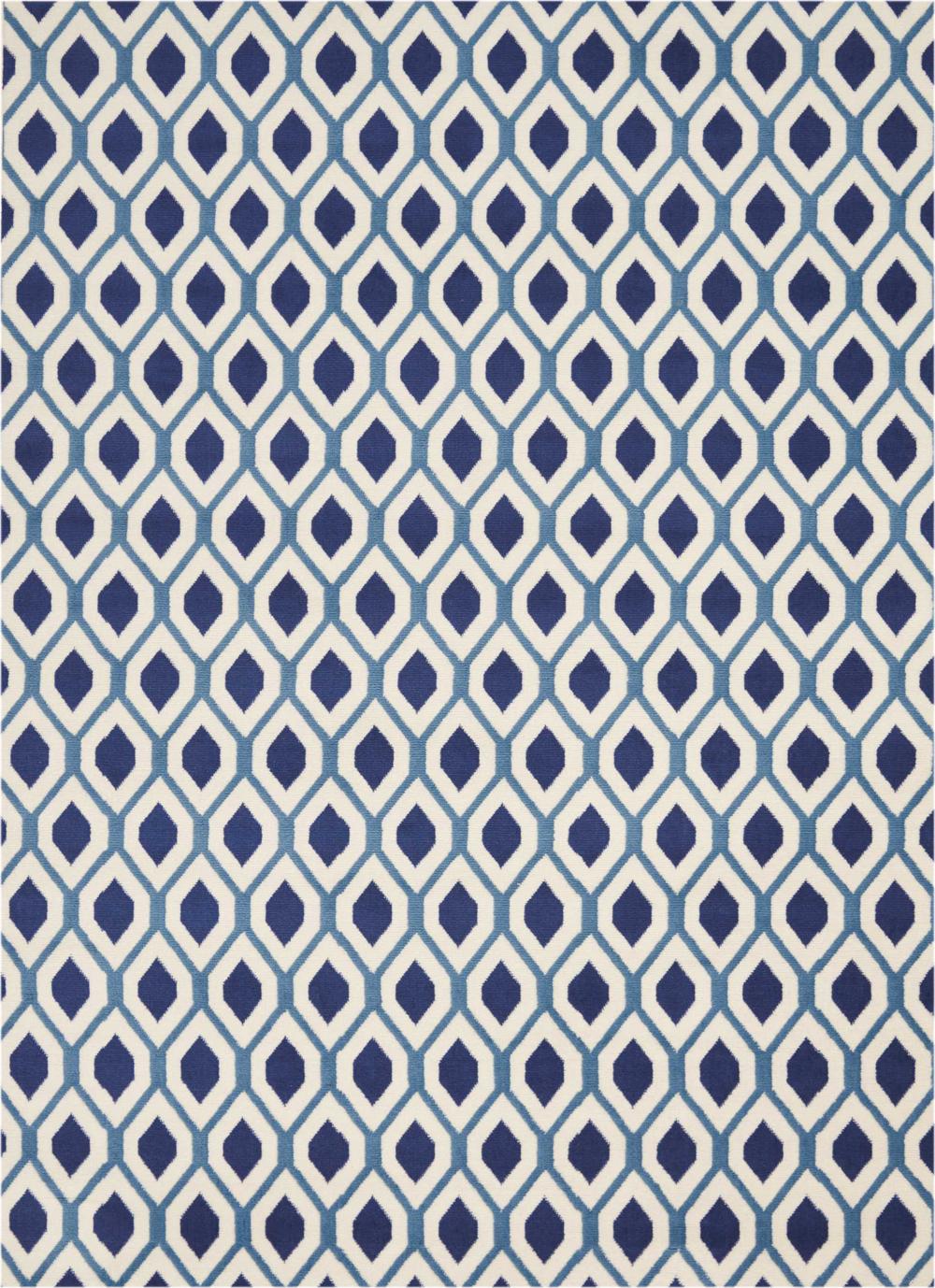 Nourison GRAFIX GRF22 WHITE/NAVY Rug