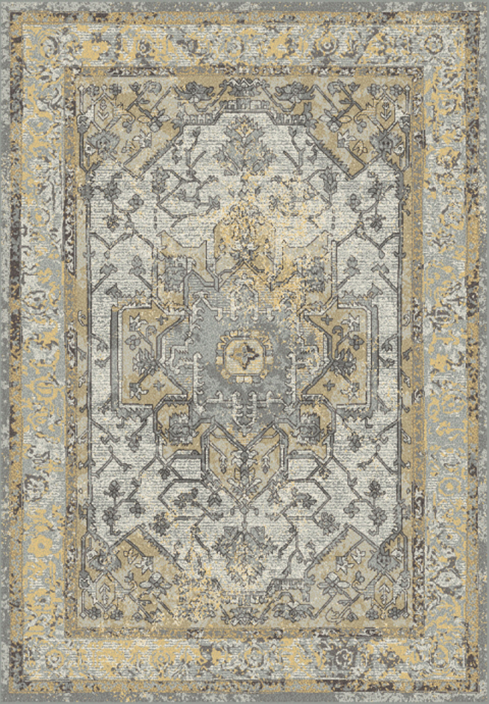 Dynamic HORIZON 988465 GREY/GOLD Rug